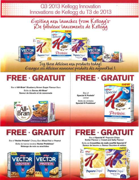 Kellogg Canada Q3 Coupon Sheet